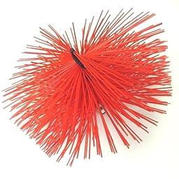 Soft White Poly Round UJ Spiral Brush No Threads - 10\