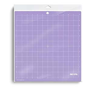 Nicapa Cutting Mat for Silhouette Cameo 3/2/1 [Strong-Grip,12x12 inch 3pack] Adhesive&Sticky Non-Slip Flexible Square Gridded Purple Cut Mats Replacement Accessories Set matts Vinyl Craft Sewing Cloth (Color: purple for Cameo 12*12, Tamaño: StrongGrip 3pack)