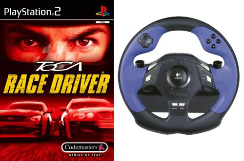 Driving Force Steering Wheel and Free Toca Race Driver (PS2)