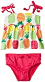 Pink Platinum Girls 2-6X Colorful Pineapples Swimsuit