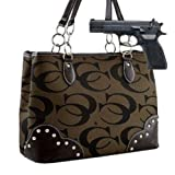 Brown Studded Signature Conceal and Carry Purse