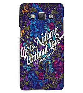 ColourCraft Quote Design Back Case Cover for SAMSUNG GALAXY A7
