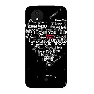 Ajay Enterprises Heart Love Type Back Case Cover for Micromax Canvas A1