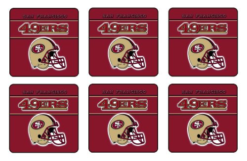 San Francisco 49ers Coaster Set of 6 NFL Football Mini Mousepads at Amazon.com