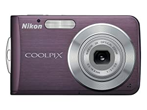 Nikon Coolpix S210 8MP Digital Camera with 3x Optical Zoom (Plum)