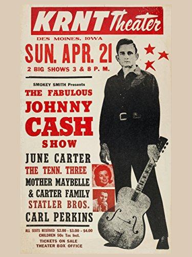 Johnny Cash foto per forza di Concerto Posters 40x 30cm