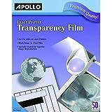 Apollo Laser Jet Printer and Copier Transparency Film, 50 Sheets (CG7060)