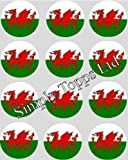 12 Welsh Flag rice paper fairy cup cake 40mm toppers pre cut decoration wales dragon Made By Simply Topps Matching Cupcake Wraps in our Store