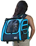 Pet Gear I-Go2 Traveler Roller Backpack for Cats and Dogs up to 20-Pounds, Ocean Blue