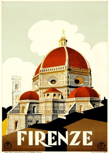 c1930 Vintage Iravel ITALY for FIRENZE 250gsm Gloss ART CARD A3 Reproduction Poster