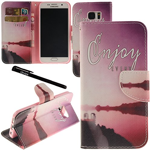 purchase cheap bed72 c113a Price tracking for: Urvoix Galaxy S7 Case, Card Holder Stand Leather ...