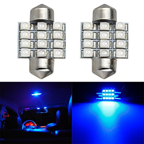 Partsam Blue 12-SMD LED Bulbs Interior Lights de3021 (2006 Toyota Corolla Interior compare prices)