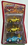 Disney Pixar Cars Dinoco Dream Gift Pack - Gold Mia, Gold Tia and Bling Bling Lightning McQueen