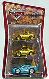 Disney Pixar Cars Dinoco Dream Gift Pack - Gold Mia, Gold Tia and Bling Bling Lightning McQueen