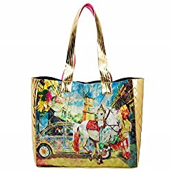 The House of tara Womens Handbag (Multi Coloured)