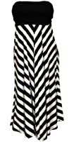 eVogues Plus size Striped Dress Skirt