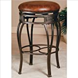 Hillsdale Montello 26 in. Backless Swivel Counter Stool - Old Steel