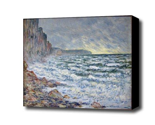 Le havre muma monet fecamp Canvas Art Print, with 1.5 inch Deep Frame BLACK edge; 20 X 16 бижутерия monet цены