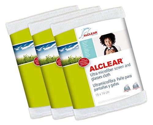 ALCLEAR-950003-Ultramicrofibra-Ecrans-et-Chiffon-pour-Lunettes-19-x-14-cm-Blanc