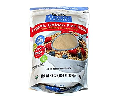 Flax USA/Stober Farms Organic Cold Milled Flax Seed 48 Ounce (Packaging May Vary) from Flax USA