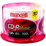 Maxell Music 32x 80 minute / 700MB CD-R Media for Audio, 30 Pack Spindle