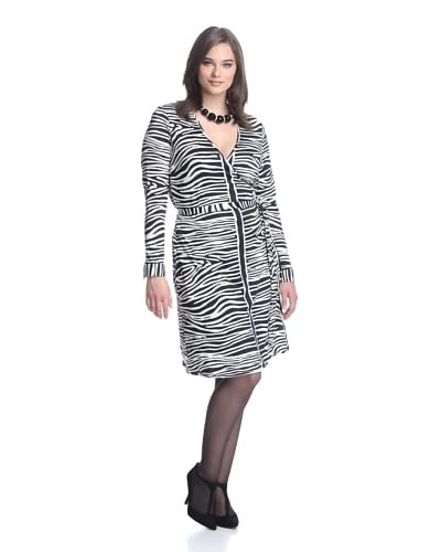 JB by Julie Brown Pl Women's 3/4 Sleeve Wrap Dress