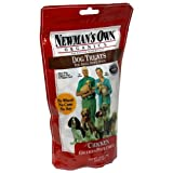 Newman's Own Organics Dog Treats for Small Sized Dogs, Chicken, 10-Ounce Bags (Pack of 6)