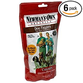 Newman's Own®Organics Dog Treats for Small Size Dogs, Chicken, 10-Ounce Bags (Pack of 6)