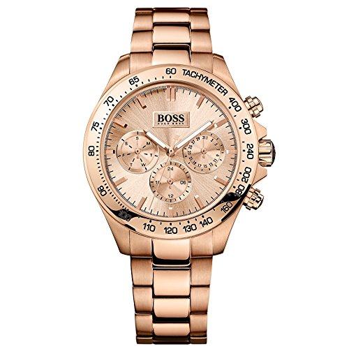 Hugo Boss 1502371 - Orologio da polso da donna, cinturino in acciaio inox colore oro rosa