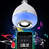 Texsens Bluetooth Music Bulb E27 LED Light 3.0 6W 100-240V Music Playing RGB Change Light with 24keys Remote Control Wireless Stereo Audio Speaker