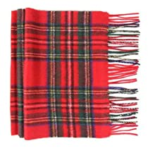 Oxfords Cashmere Pure Lambswool Luxury Tartan Scarf, Royal Stewart-One Size