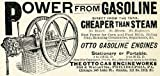 1895 Ad Otto Gasoline Engine Corn Feed Mill Power Farm 245 Lake St Chicago IL - Original Print Ad