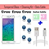 Paybydaddy® Curved Samsung Galaxy Note II N7100 Tempered Glass Screenguard + 2 Dust Clean Packet + Data Cable...