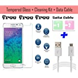 Paybydaddy® Curved Motorola Moto X Play Tempered Glass Screenguard + 2 Dust Clean Packet + Data Cable For Motorola...