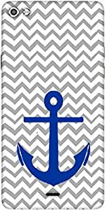 Snoogg Anchor Wave Designer Protective Back Case Cover For Micromax Canvas Silver 5 Q450