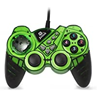 Dual Shock Wired USB Gamepad Controller For PC With Gripped Joysticks Ergonomic Design Vibration Force Feedback... - B00S879GES
