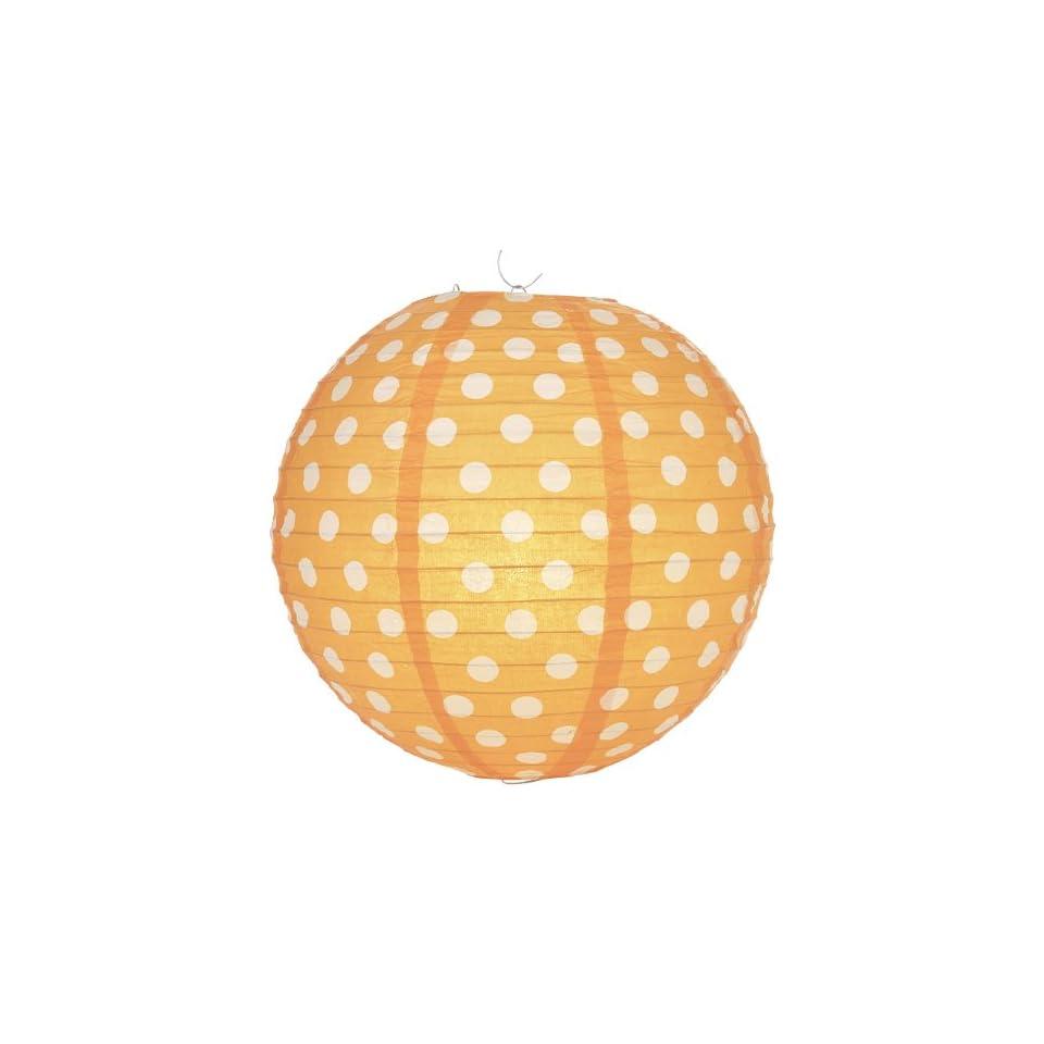 Quasimoon Orange Polka Dot Paper Lantern by PaperLanternStore