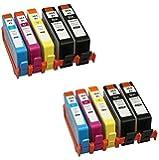 10 XL (2 SETS + 2 BLACK) Compatible HP 364XL Ink Cartridges Replacement for Photosmart 5510, 5511, 5512, 5514, 5515, 5520, 5522, 5524, 6510, 6512, 6515, 6520, 7515, B010a, B109a, B109d, B109f, B109n, B110a, B110c, B110e, Photosmart Plus B209a, B209c, B210a, B210c, B210d, Deskjet 3070A, 3520, 3522, 3524, Officejet 4610, 4620 | High Capacity
