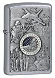 Zippo  Emblem Street Chrome Lighter