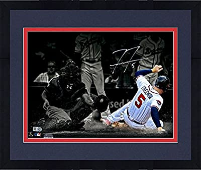 "Framed Freddie Freeman Atlanta Braves Autographed 11"" x 14"" Spotlight Photograph - Fanatics Authentic Certified"