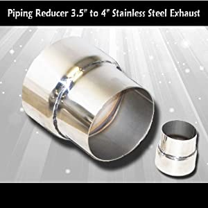 """Stainless Steel Exhaust Piping Reducer 3.5"""" to 4"""""""