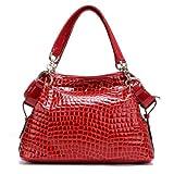 PASTE Women Red Designer Genuine Leather Red Handbag