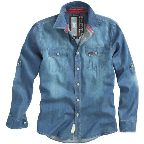 "Raw Vintage Jeanshemd ""Raw Vintage Jeans Shirt"", Größe: M, Farbe: Dark Blue"
