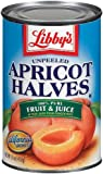 Libby's Unpeeled Apricot Halves in Pear Juice From Concentrate, 15-Ounce Cans (Pack of 12)