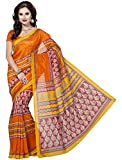 Rani Saahiba Bhagalpuri Printed Art Silk Saree (Orange_SKR1051)