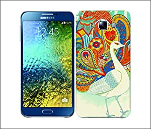Galaxy Printed 2571 Paisley Peacock Rose Hard Cover for Samsung S3
