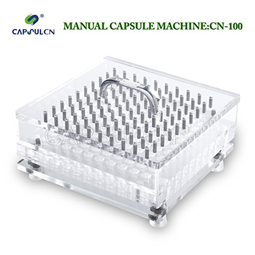 CapsulCN. A Machine Help You with The Capsules, 100pcs one time (CN-100CL Size 000) (Capsule Fill Machine compare prices)