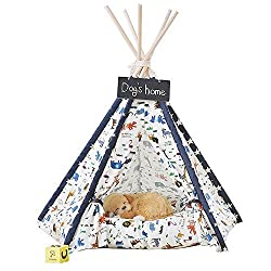 DalosDream Pet Teepee Bed Indian Tents For Small Dog
