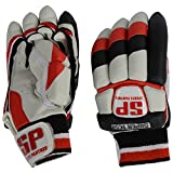 SP Sports Panther Super Test Unisex Leather And PU Batting Gloves Youth White