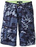 Tommy Hilfiger Big Boys Camo Cargo Short, Blue Stone, 12 Regular
